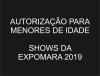 AUTORIZAÇÃO PARA MENORES - EXPOMARA 2019