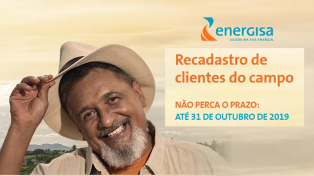 Recadastramento da Energisa para clientes do campo vai até dia 31 de outubro